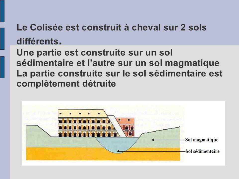 Le Colisée est construit à cheval sur 2 sols différents