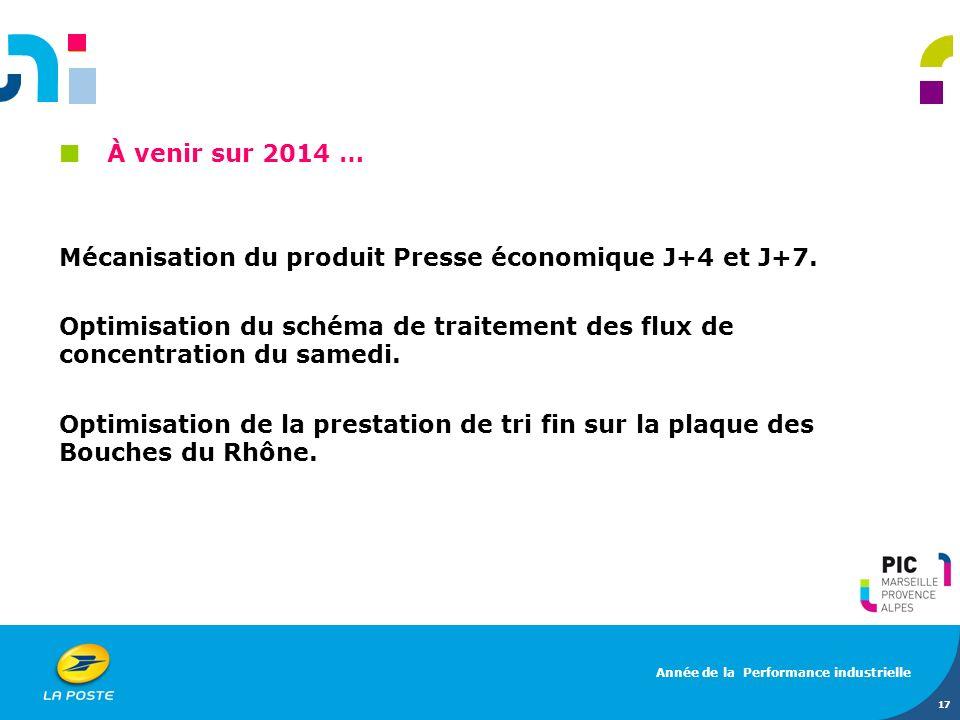 Mécanisation du produit Presse économique J+4 et J+7.