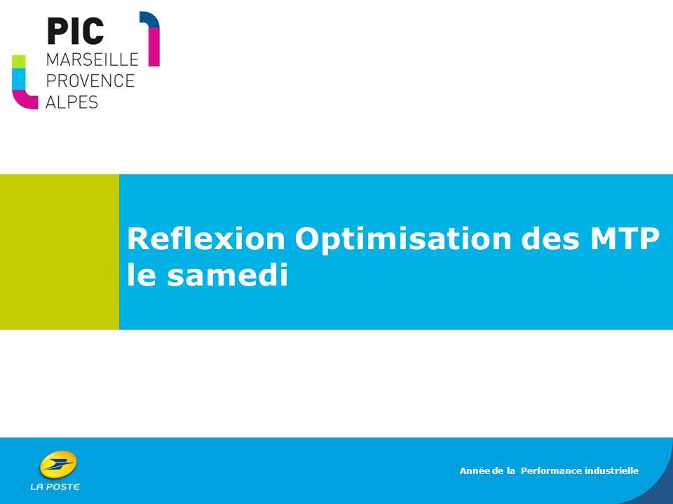 Reflexion Optimisation des MTP le samedi