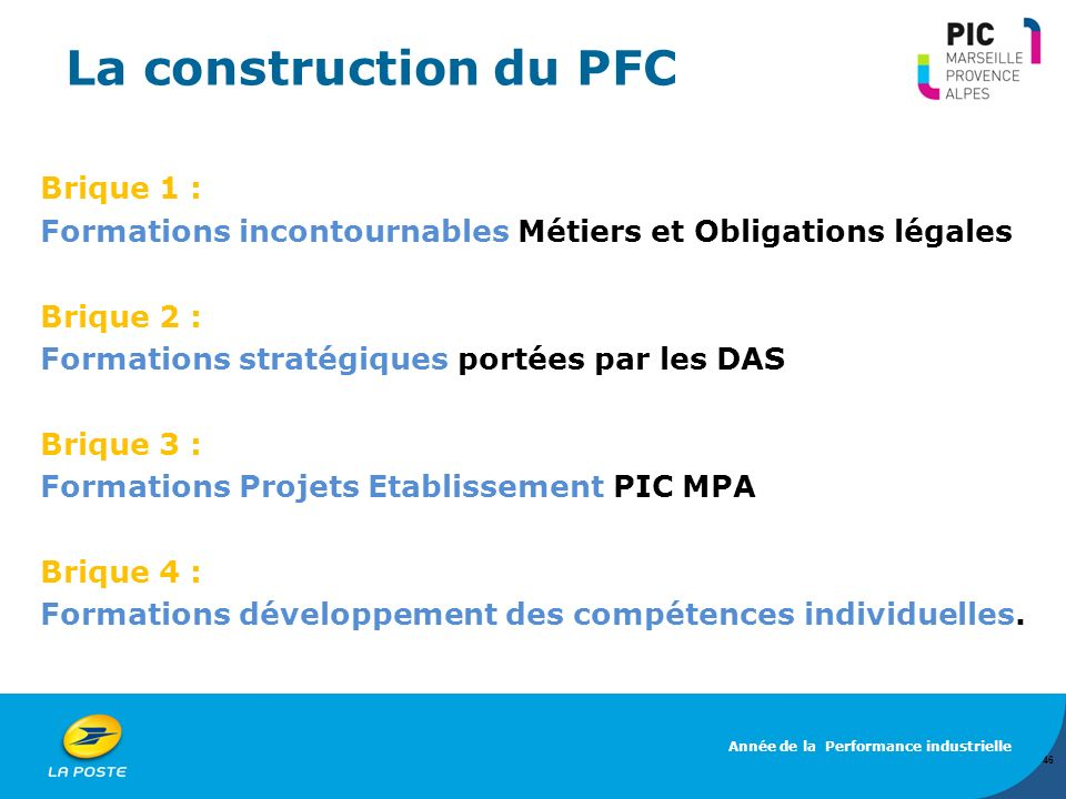 La construction du PFC