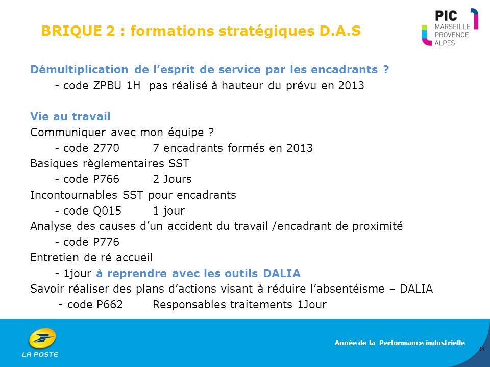 BRIQUE 2 : formations stratégiques D.A.S