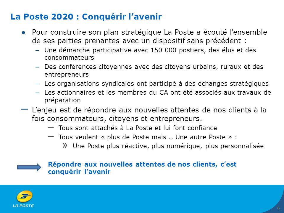 La Poste 2020 : Conquérir l'avenir