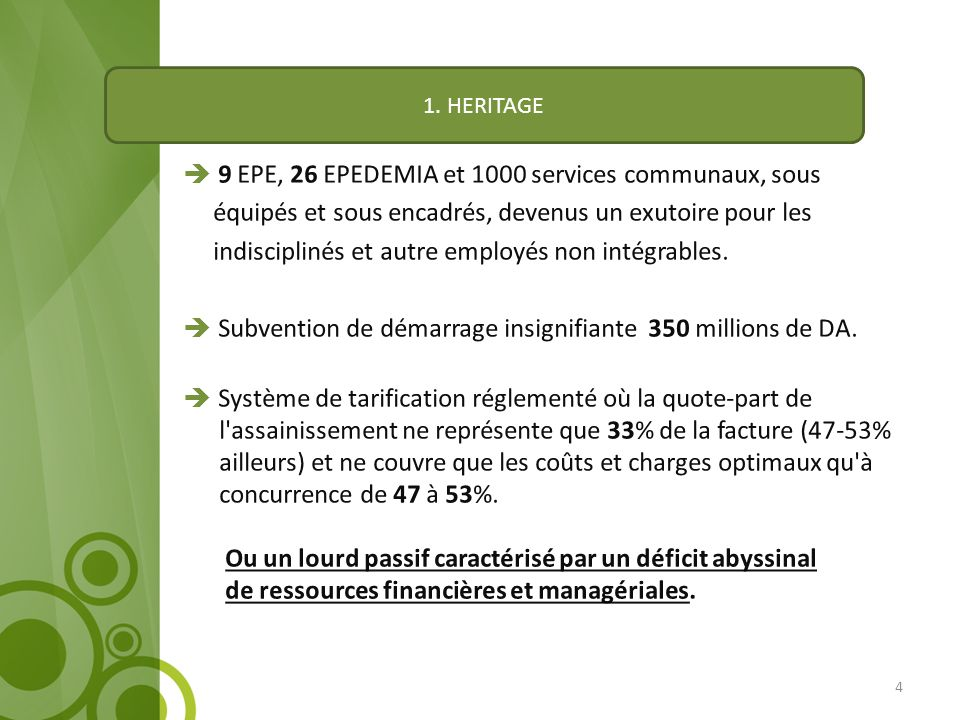 9 EPE, 26 EPEDEMIA et 1000 services communaux, sous