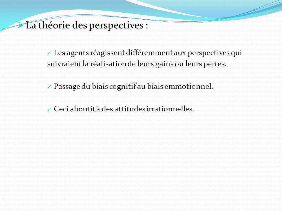 La théorie des perspectives :