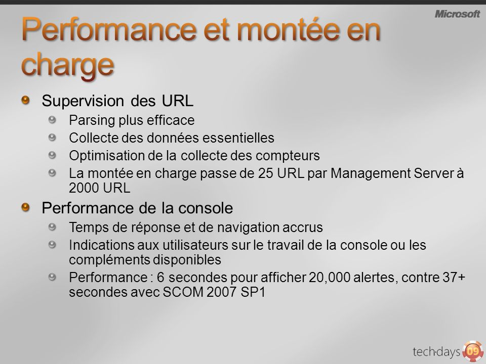 Performance et montée en charge