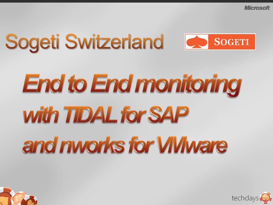 End to End monitoring with TIDAL for SAP and nworks for VMware