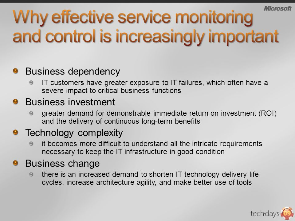 Why effective service monitoring and control is increasingly important