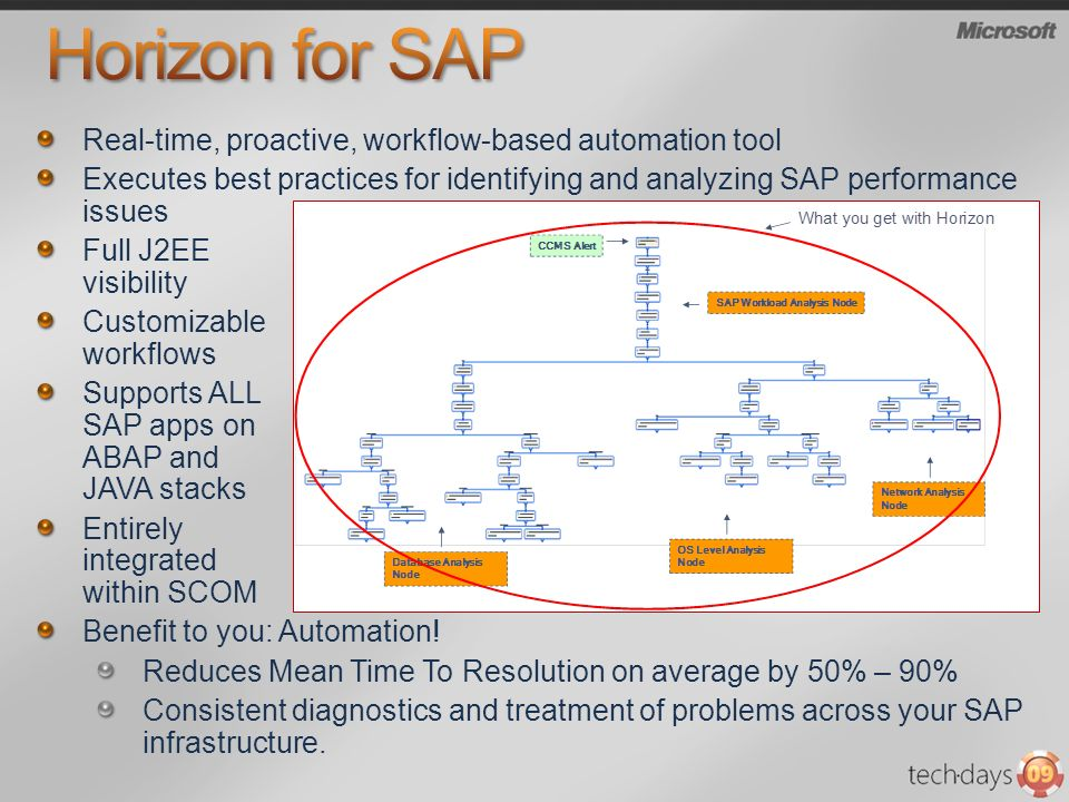 Horizon for SAP Real-time, proactive, workflow-based automation tool