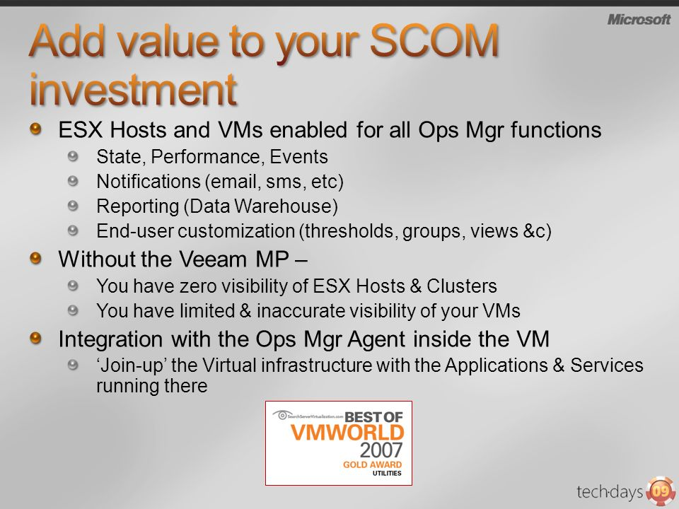 Add value to your SCOM investment