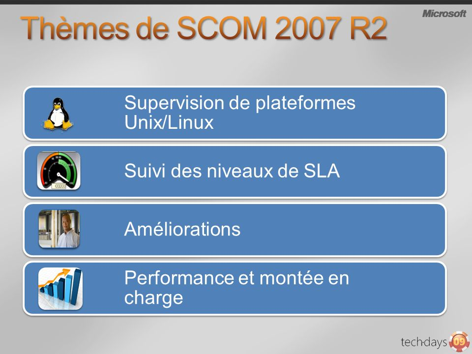 Thèmes de SCOM 2007 R2 Supervision de plateformes Unix/Linux
