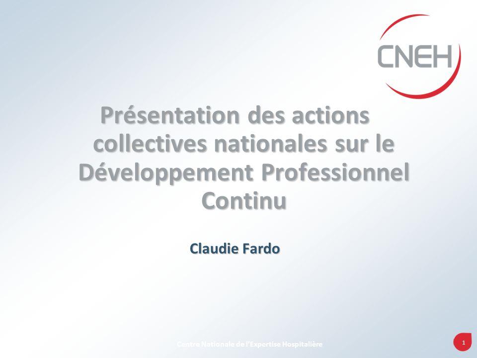 Présentation des actions collectives nationales sur le Développement Professionnel Continu