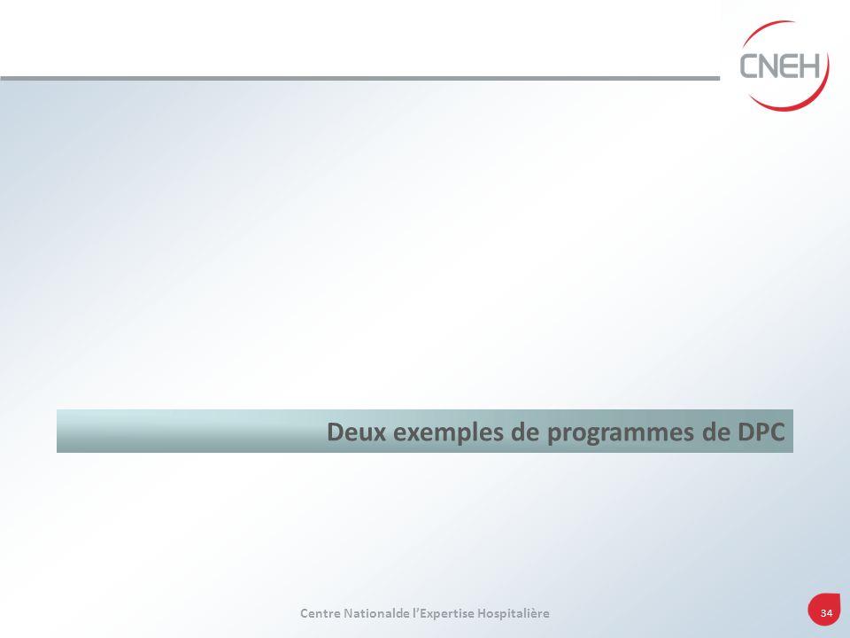 Deux exemples de programmes de DPC