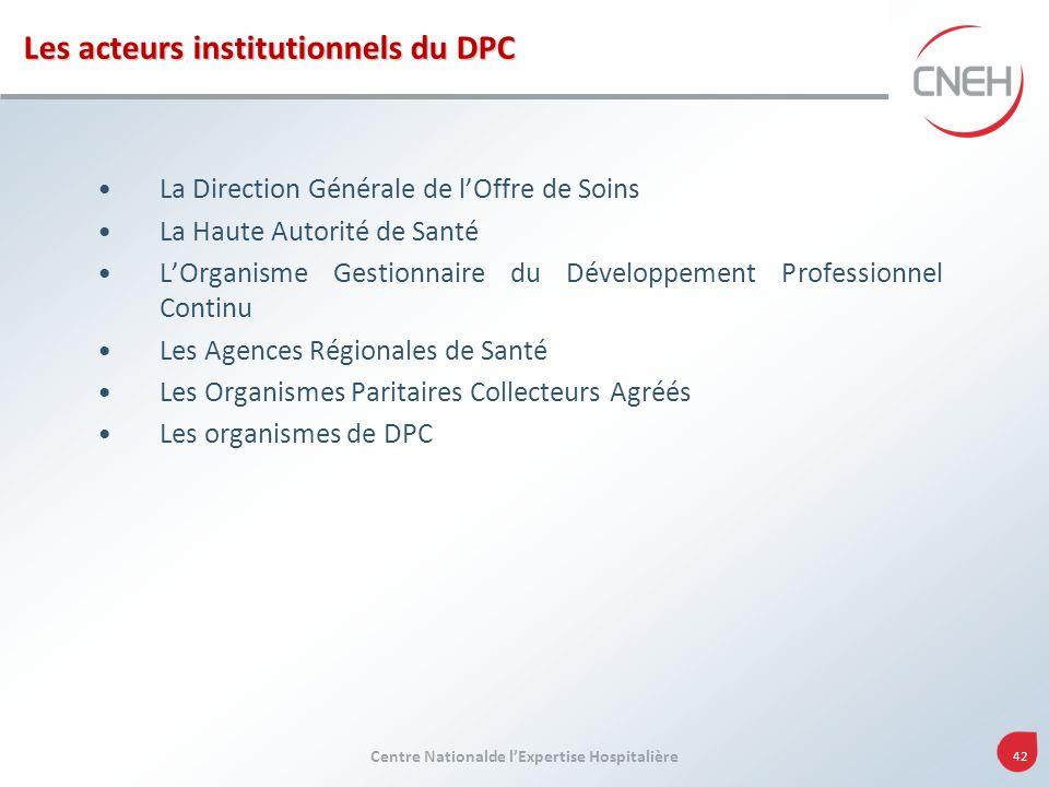 Les acteurs institutionnels du DPC
