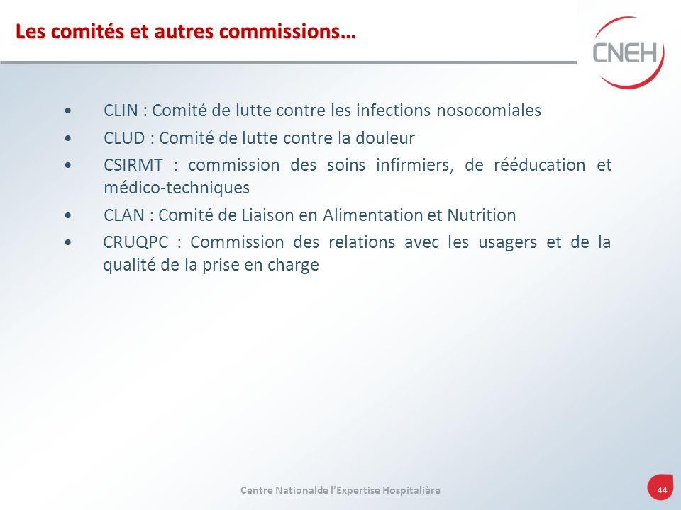 Les comités et autres commissions…