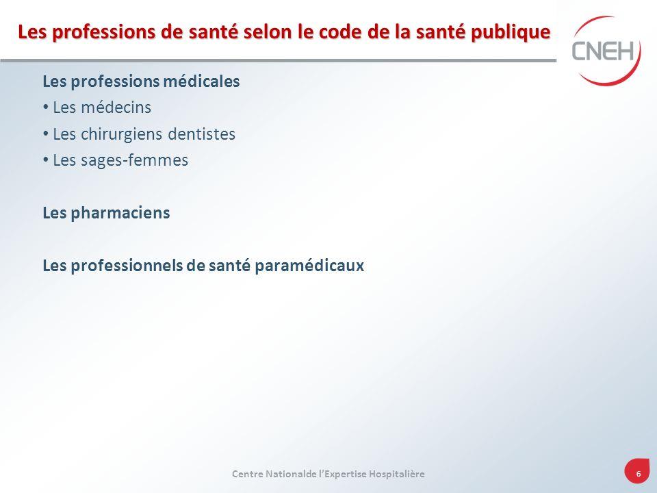 Les professions de santé selon le code de la santé publique