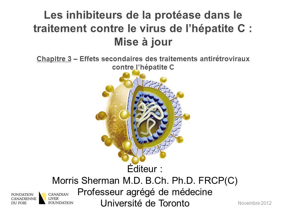 Les inhibiteurs de la protéase dans le traitement contre le virus de l'hépatite C : Mise à jour