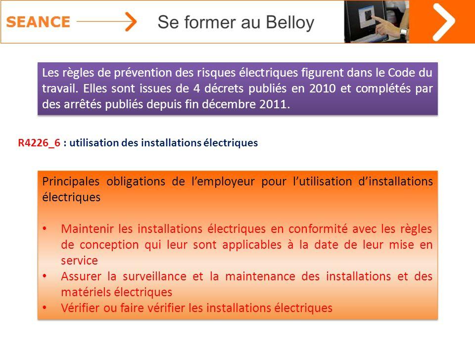 Vérifier ou faire vérifier les installations électriques