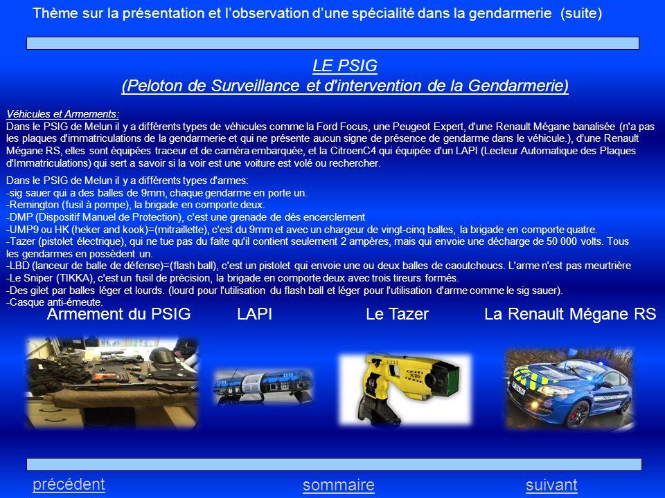 (Peloton de Surveillance et d intervention de la Gendarmerie)