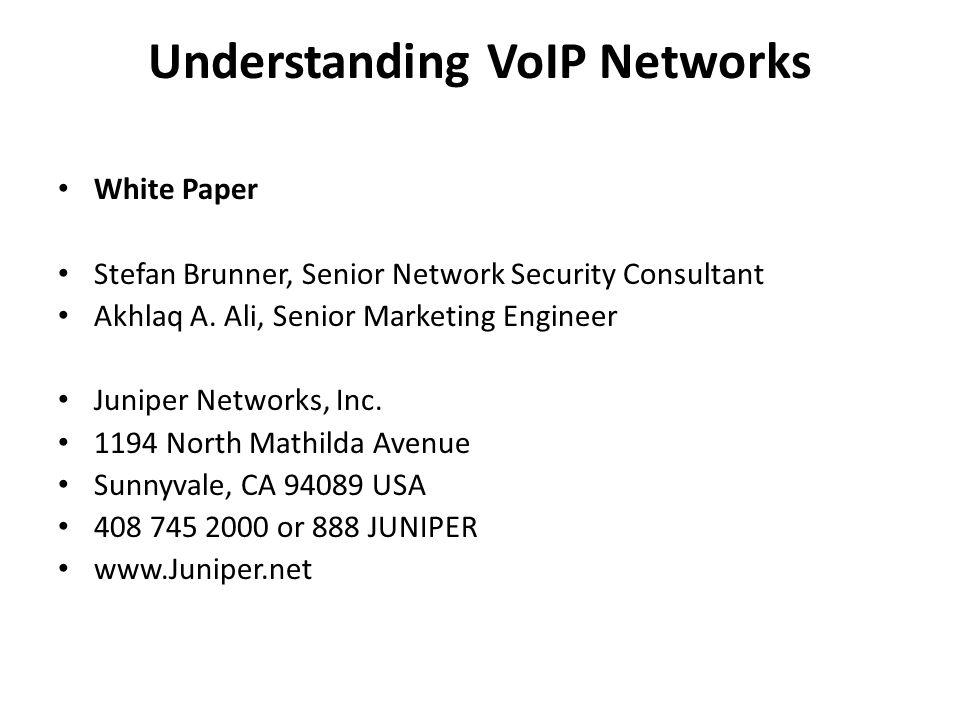 Understanding VoIP Networks
