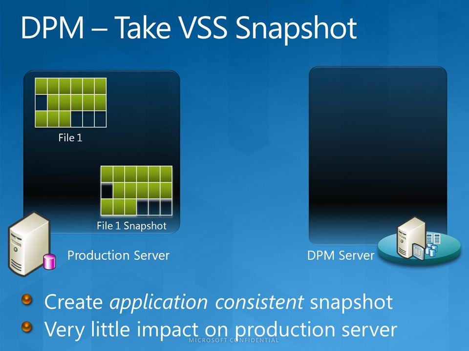 DPM – Take VSS Snapshot