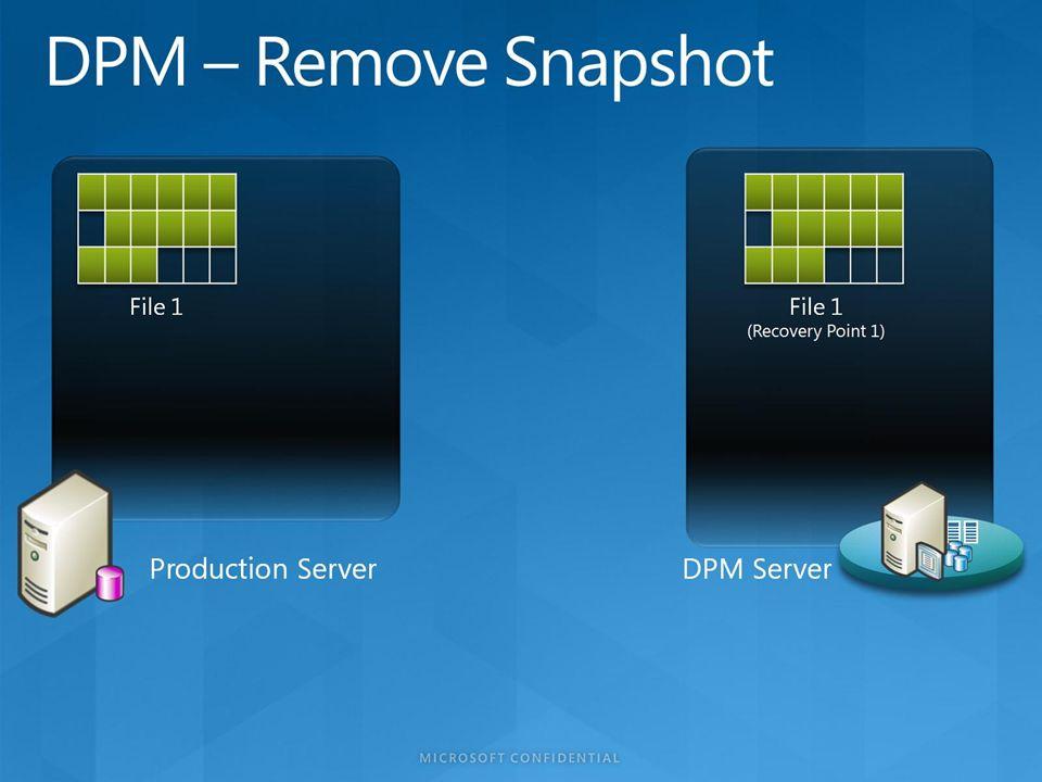 DPM – Remove Snapshot