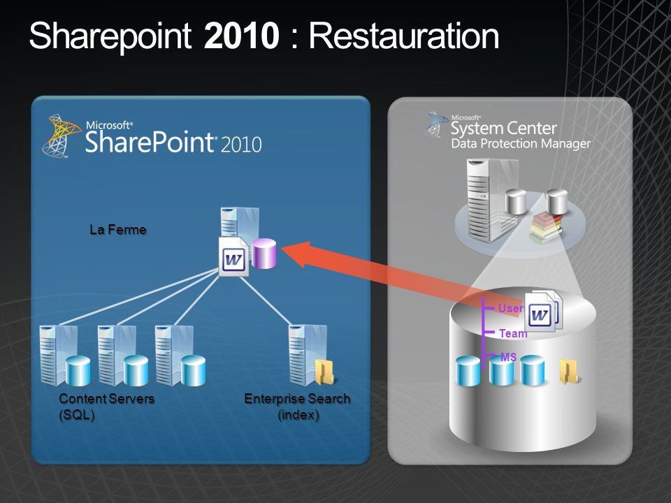 Sharepoint 2010 : Restauration