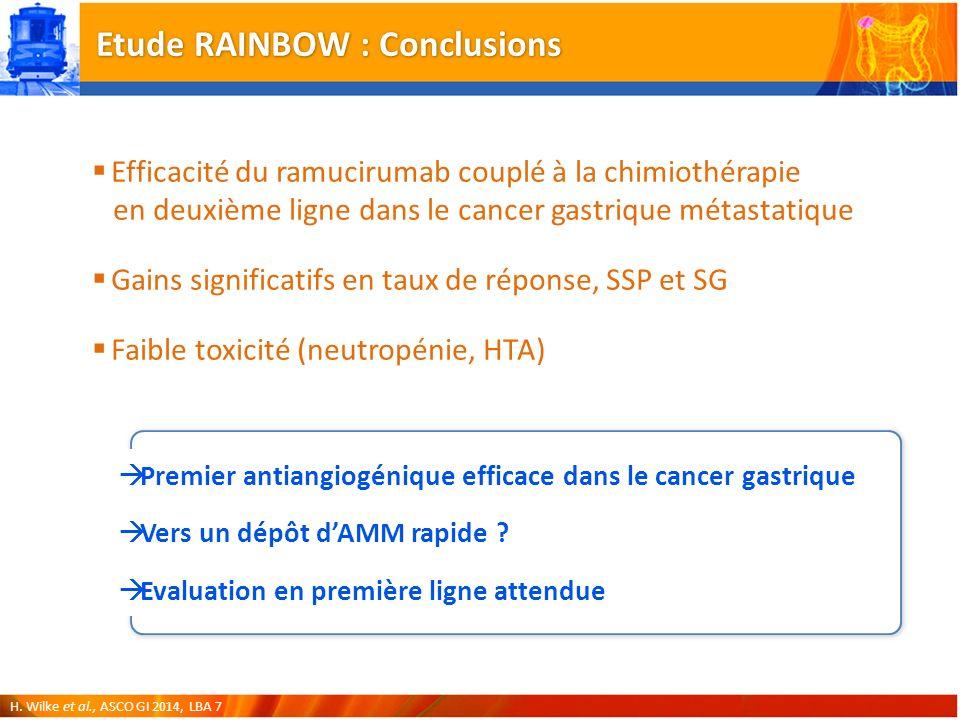 Etude RAINBOW : Conclusions