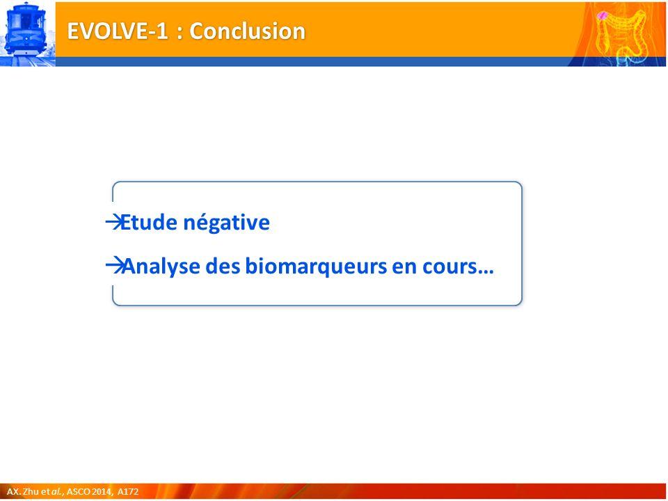 EVOLVE-1 : Conclusion Analyse des biomarqueurs en cours…
