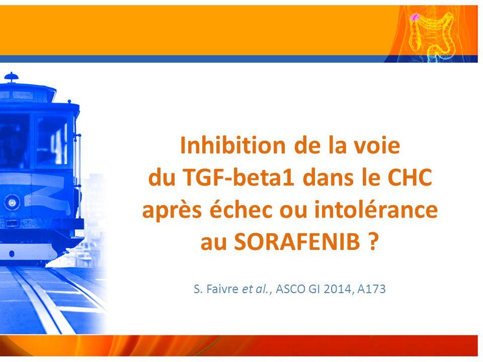 Inhibition de la voie du TGF-beta1 dans le CHC après échec ou intolérance au SORAFENIB