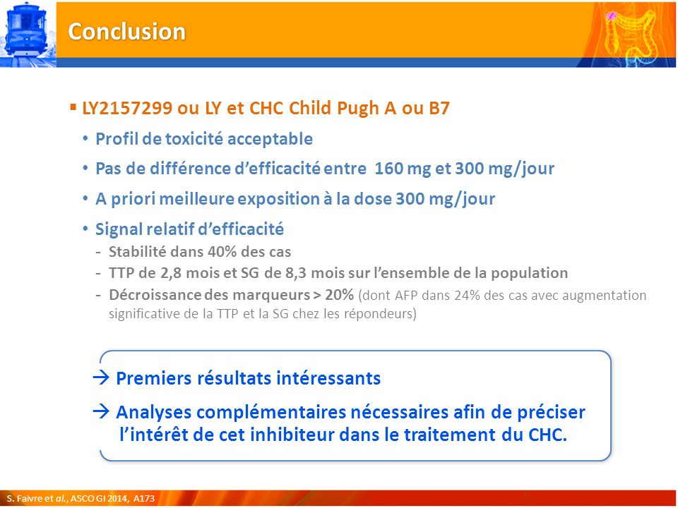Conclusion LY2157299 ou LY et CHC Child Pugh A ou B7
