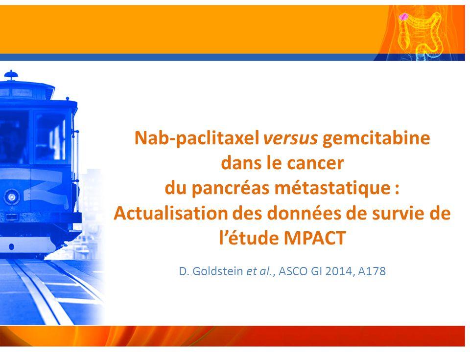 D. Goldstein et al., ASCO GI 2014, A178