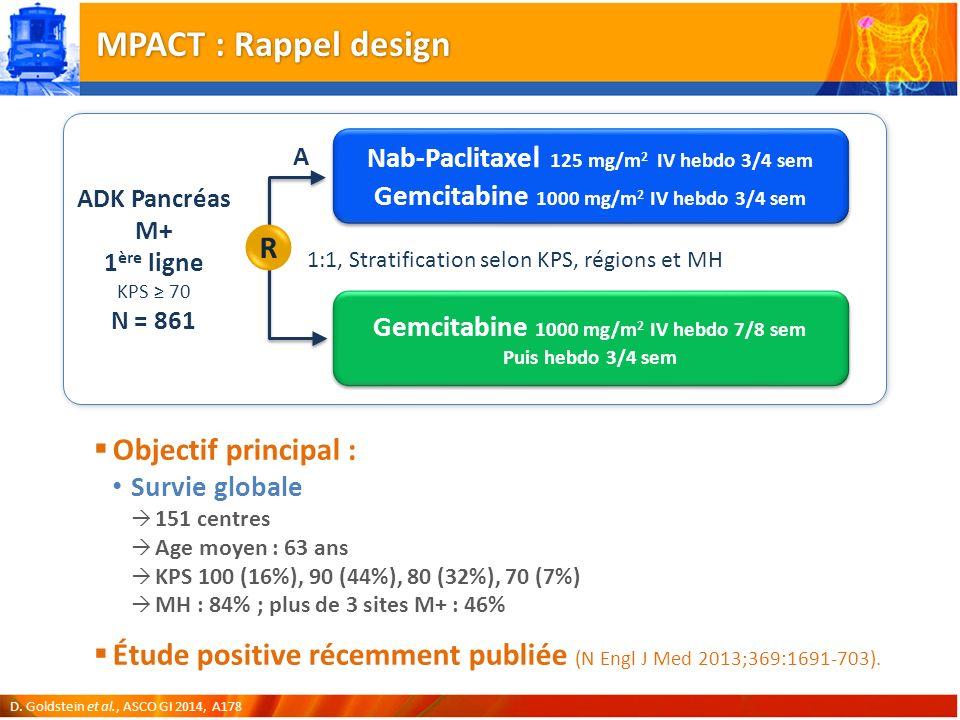 MPACT : Rappel design R Objectif principal :
