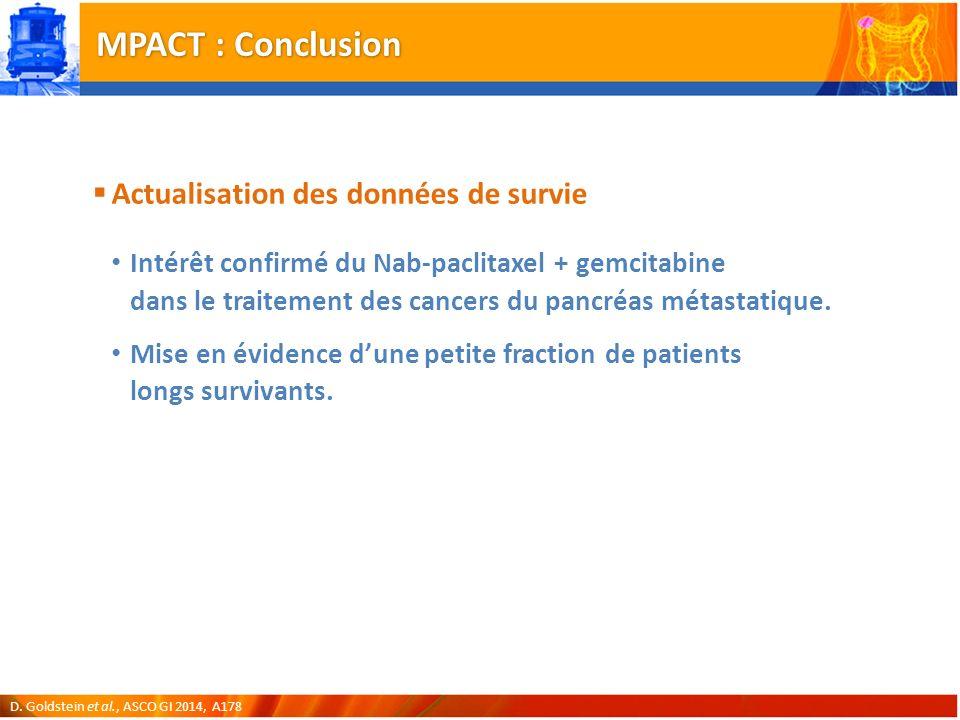 MPACT : Conclusion Actualisation des données de survie
