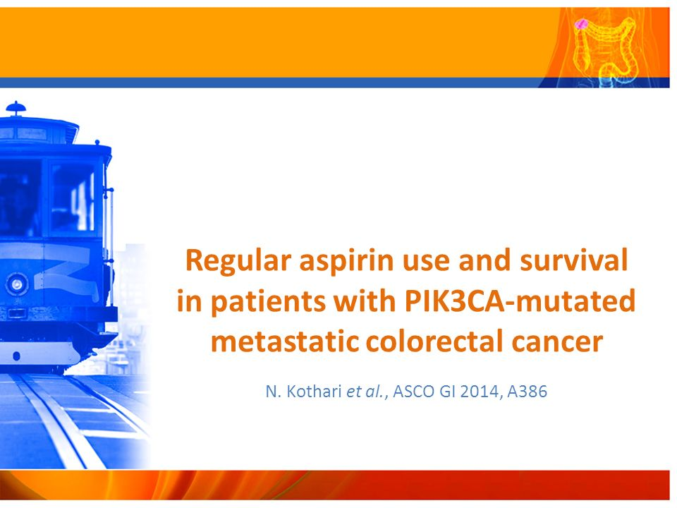 Regular aspirin use and survival in patients with PIK3CA-mutated metastatic colorectal cancer