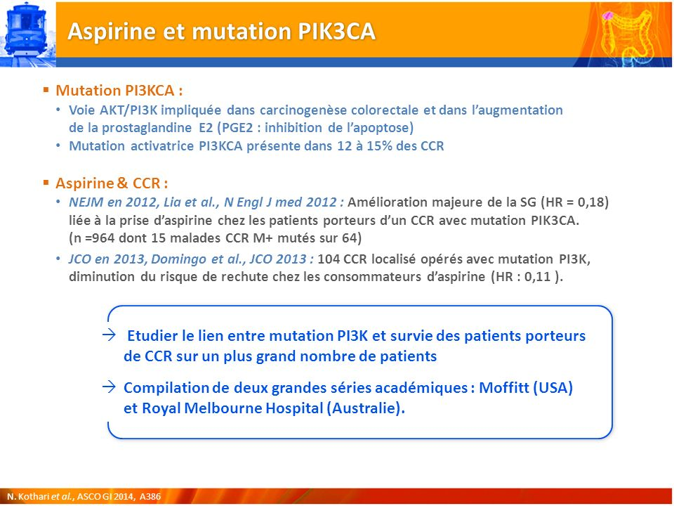 Aspirine et mutation PIK3CA