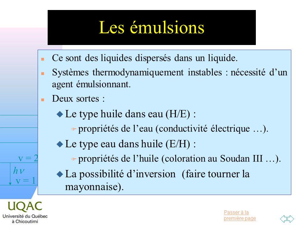 Les émulsions Le type huile dans eau (H/E) :