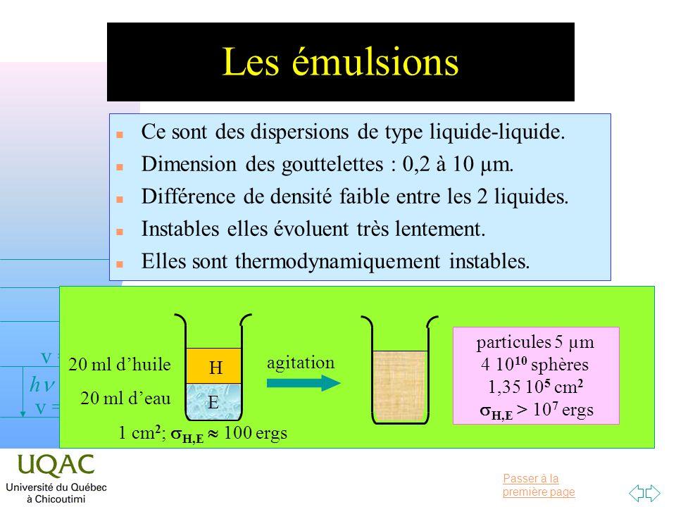 particules 5 µm 4 1010 sphères 1,35 105 cm2 sH,E > 107 ergs