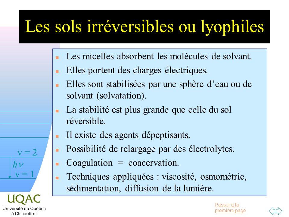 Les sols irréversibles ou lyophiles