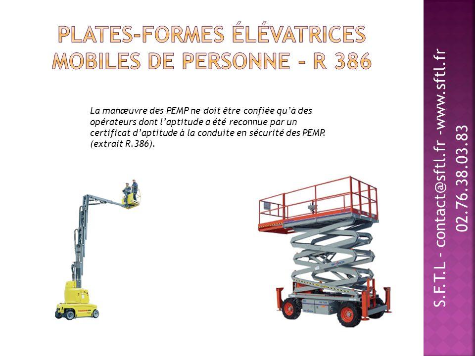 Plates-formes élévatrices mobiles de personne - R 386