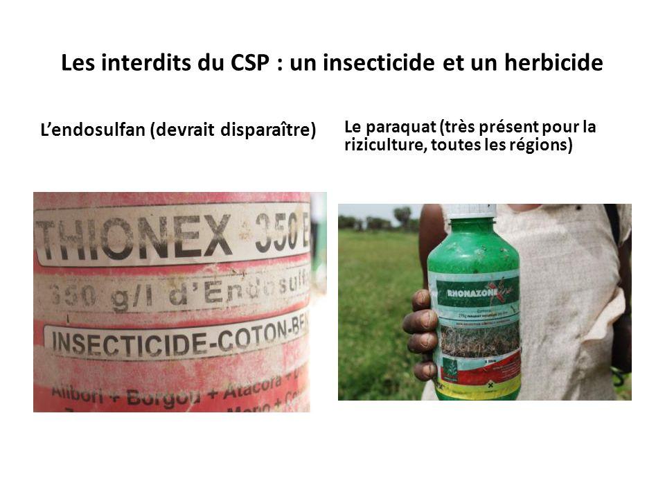 Les interdits du CSP : un insecticide et un herbicide