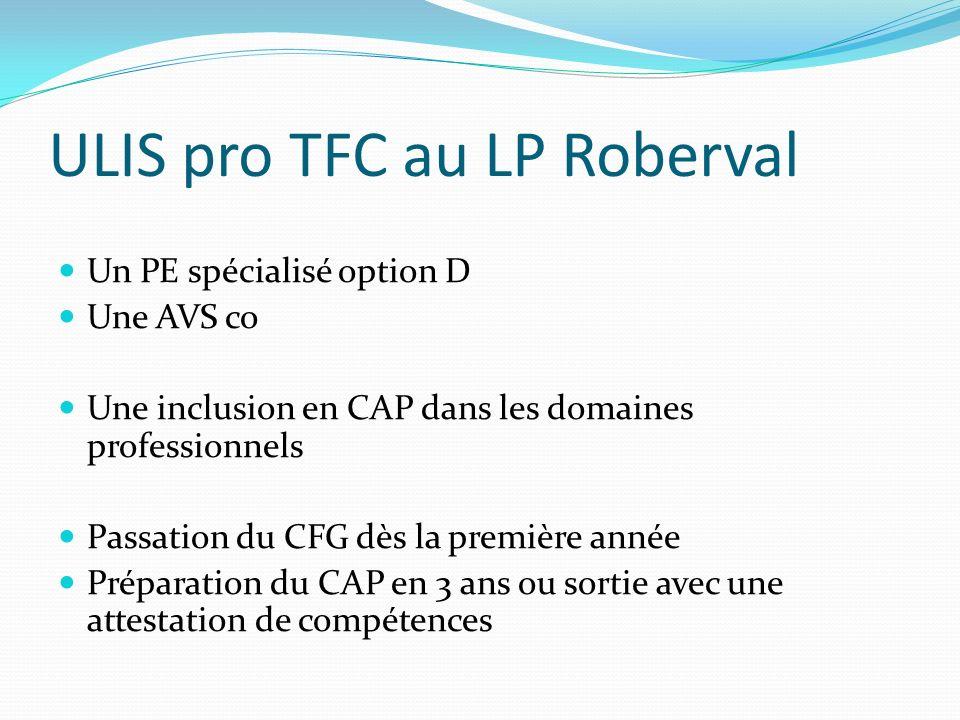 ULIS pro TFC au LP Roberval