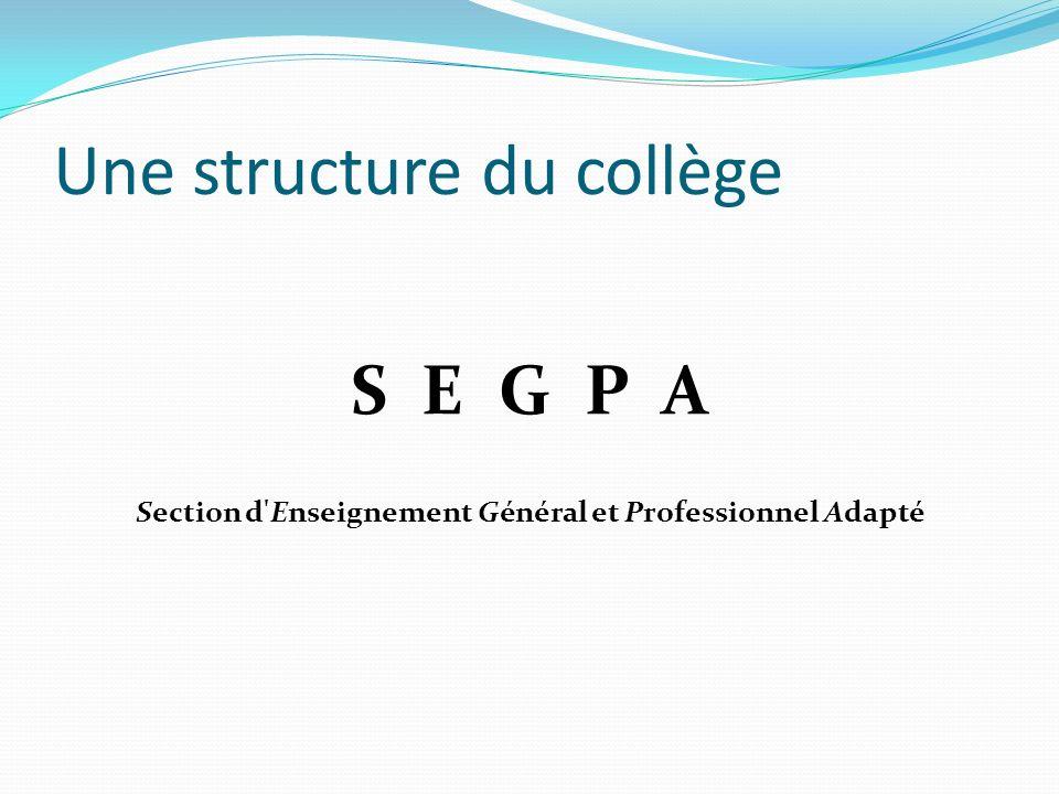 Une structure du collège