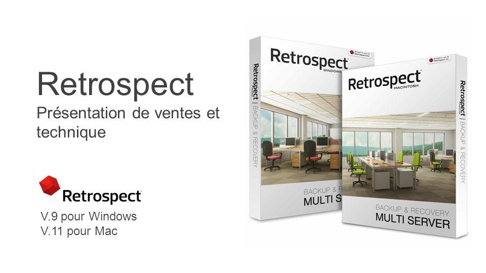 Retrospect Présentation de ventes et technique V.9 pour Windows