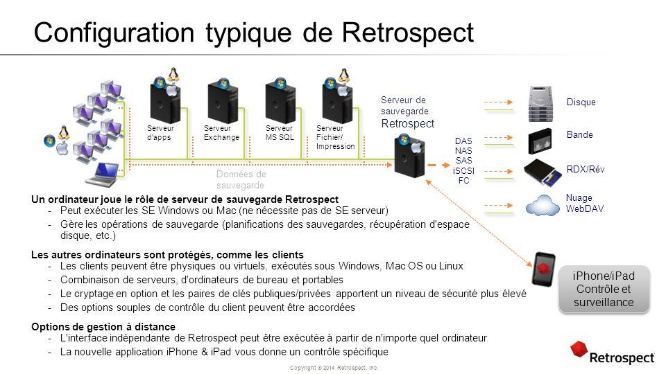 Configuration typique de Retrospect