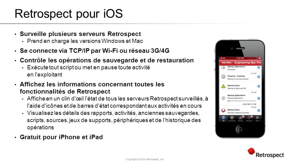 Retrospect pour iOS Surveille plusieurs serveurs Retrospect