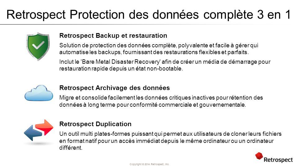 Retrospect Protection des données complète 3 en 1