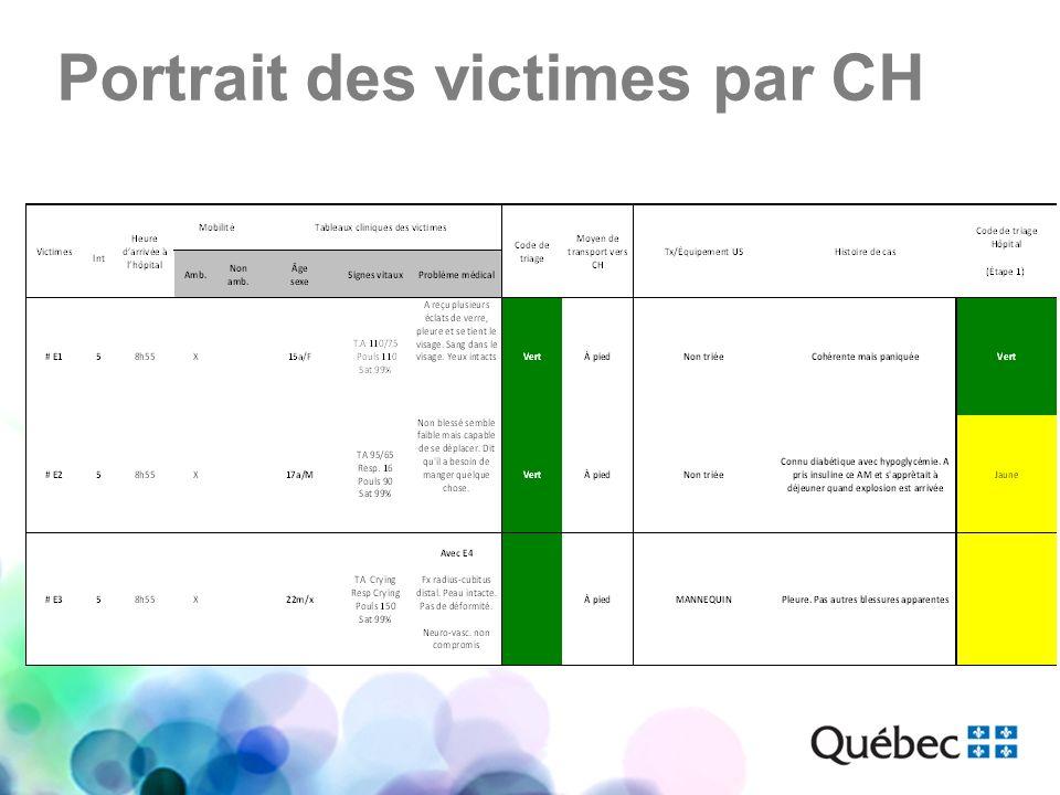 Portrait des victimes par CH