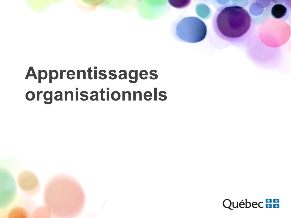 Apprentissages organisationnels