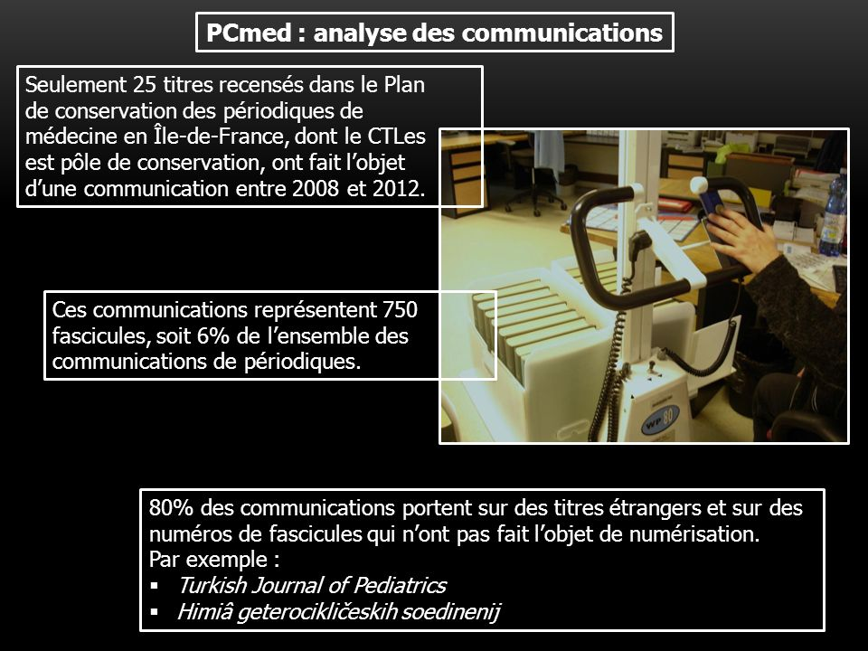 PCmed : analyse des communications
