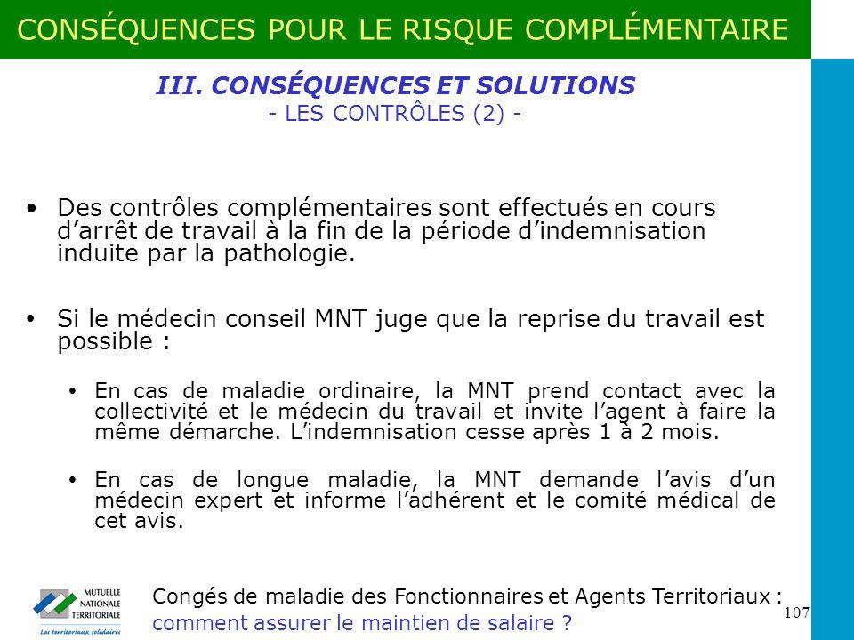III. CONSÉQUENCES ET SOLUTIONS - LES CONTRÔLES (2) -